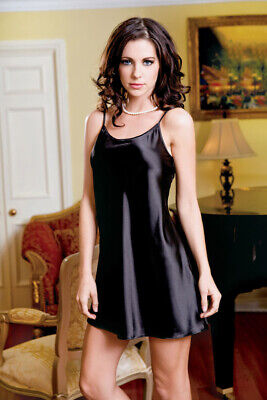 iCollection Women's Satin Chemise -Night dress - Sexy - various colors - NWT