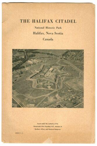 Vintage 1958 HALIFAX CITADEL Nova Scotia CANADA Tourist Souvenir Booklet!