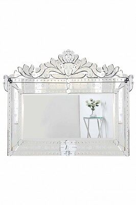 MURANO VENETIAN STYLE MIRROR BEDROOM LIVING DINING ROOM HALLWAY BATHROOM VANITY