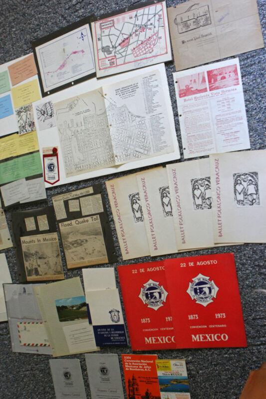 1973 National Association of Fire Chiefs Convention Vera Cruz Mexico LARGE Lot