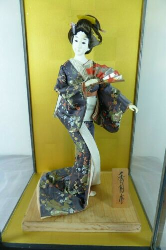 "19"" Genuine Japanese Doll w/Silk Kimono Antique Vintage"