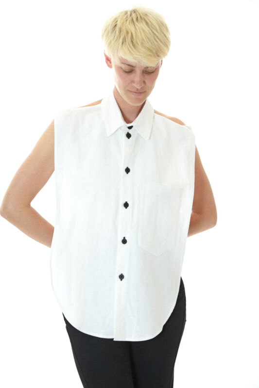 69 BUTTON UP FRONT SHIRT WHITE OXFORD M/L