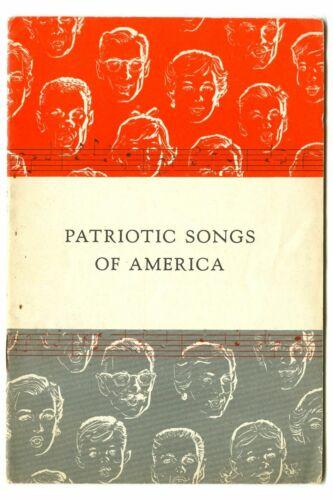 Vintage 1956 PATRIOTIC SONGS of AMERICA! JOHN HANCOCK Life Insurance Booklet!