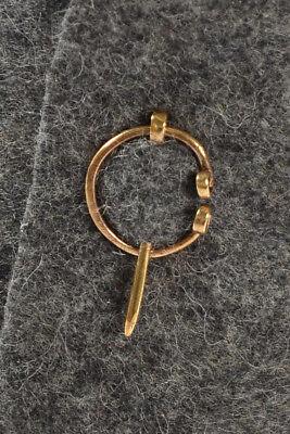 Mittelalter Fibel Tyr (Set) 2 cm aus Messing Golden HEMAD Gewandung LARP