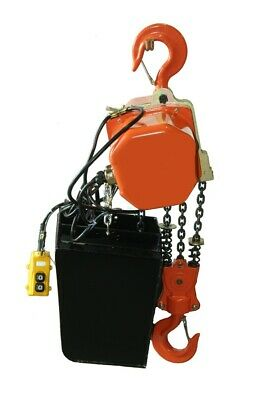 Electric Chain Hoist 6000lb 3 Ton Electric Crane Hoist Single Phase 25ft Chain
