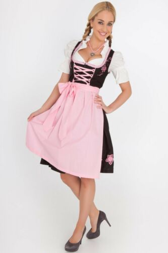 Sz 12.Germany,German,Trachten,May,Oktoberfest,Dirndl Dress.Pinks,3-pc.US Seller