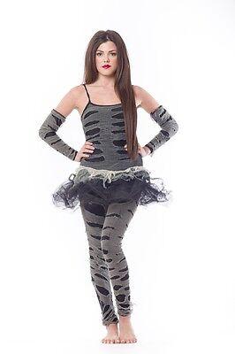 Ladies Zombie Popstar 80's Zombie Flashdance inc Leggings Fancy Dress Halloween - Flashdance Costumes