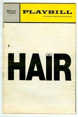 Vintage 1969 HAIR Biltmore Theatre PLAYBILL! American Tribal Love-Rock Musical!