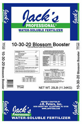 Jacks Professional 25 lb. Blossom Booster 10-30-20 Plant food Fertilizer Jacks