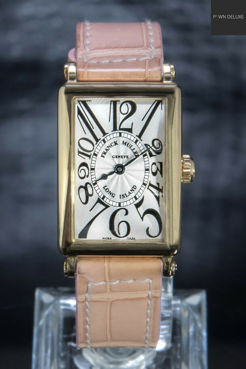 🌟 Franck Muller – Long Island Rare White Dial 18 K Yellow Gold 900QZ 900CZ - watch picture 1
