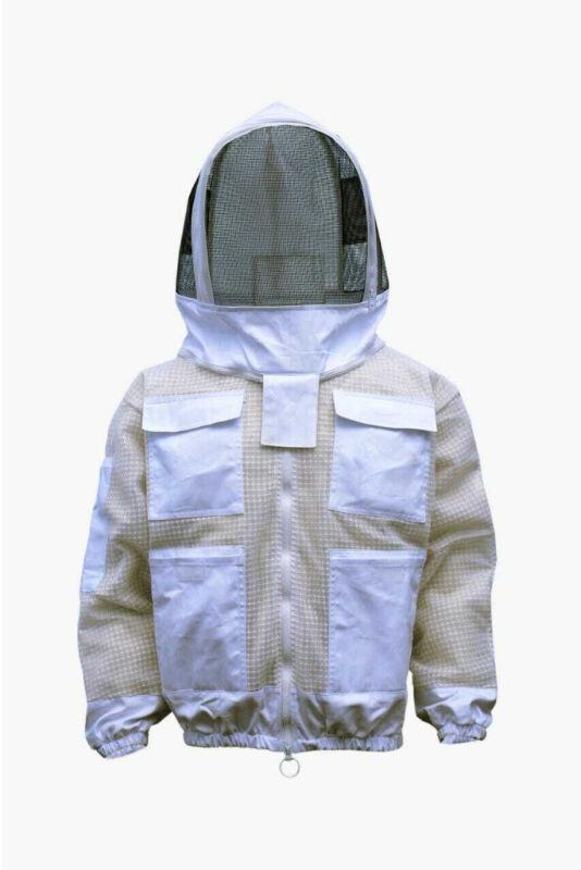 BKS Ultra Ventilated 3 Layer Bee Beekeeping Beekeeper Jacket Astronaut Veil 2XL