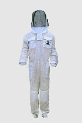 Bee Suit Ultra Ventilated 3 Layer Beekeeping Beekeeper Suit Fencing Veil Xl 02