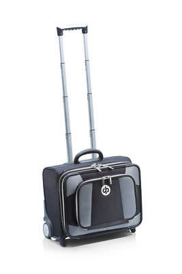 Drakes Pride - Low Roller Trolley Bag Black- Bowls Trolley with free Bowls Bag