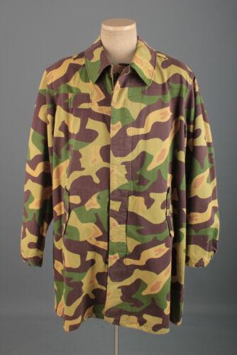 Vtg 1960s Czech Paratrooper Salamander Clown Camo Jacket XL 60s Camouflage Coat