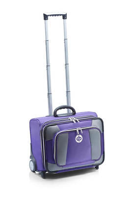 Drakes Pride - Low Roller Trolley Bag Purple - Bowls Trolley with free Bowls Bag