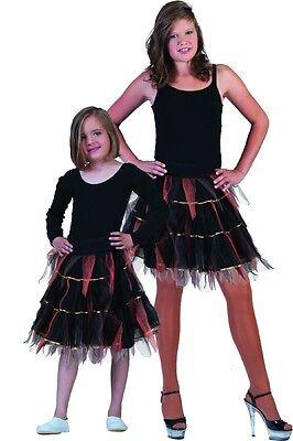 Tüllrock schwarz Kinder Halloween, Hexe Piraten Katzen Kostüme  Polyester Neu