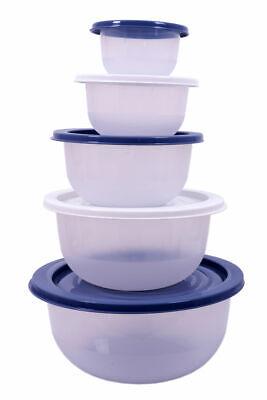 Salat Schüssel Set 5 tlg - 0,5 bis 5 Liter - Kochschüssel Rührschüssel + Deckel ()
