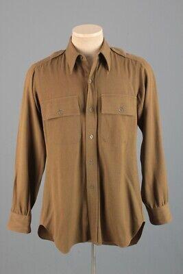 1940s Men's Shirts, Sweaters, Vests Men's WWII 1940s US Army Officers Bartlay Shirt Sz S 40s Vtg WW2 USAF Uniform $39.99 AT vintagedancer.com