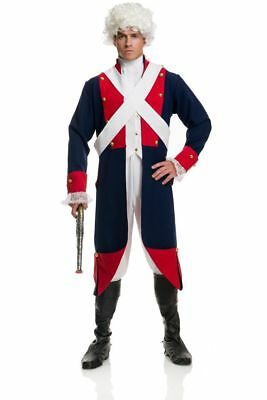 REVOLUTIONARY FRENCH BRITISH AMERICAN SOLDIER COLONIAL CIVIL WAR COSTUME MENS