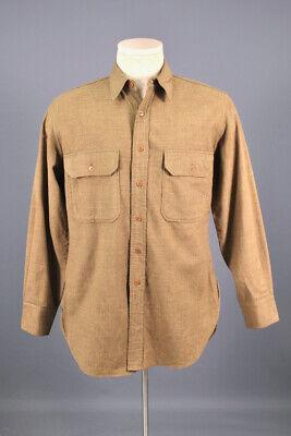 1940s Men's Shirts, Sweaters, Vests Men's 1940s WWII US Army Wool Uniform Shirt Sz M 40s OD WW2 Vtg $39.99 AT vintagedancer.com