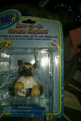 webkinz figure GANZ Hero to be german shepherd NWC great fun learning website!!!