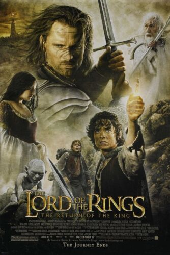 THE+LORD+OF+THE+RINGS+THE+RETURN+OF+THE+KING+ORIGINAL+DOUBLE+SIDED+MOVIE+POSTER