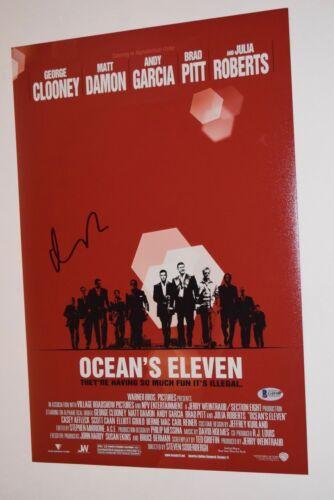 Matt Damon Signed Autographed 12x18 Photo Poster OCEAN'S ELEVEN Beckett BAS COA