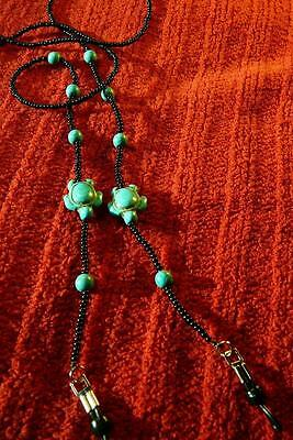 Turtles Turquoise Beaded Eyeglass holder - Native American Indian