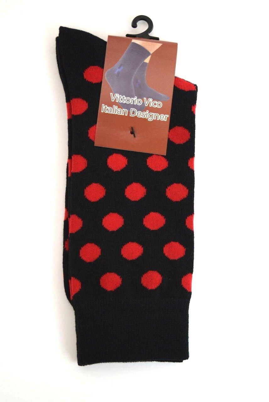 Men S Dress Casual Happy Socks Black White Red Brown