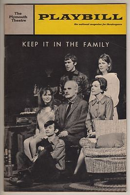 "Maureen O'Sullivan & Karen Black  Playbill ""Keep it in the Family"" 1967 OPNG NT"