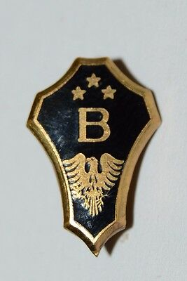 WOW Nice Vintage Art Deco Fraternity BETA Letter B & Bird Lapel Pin 3 stars Rare