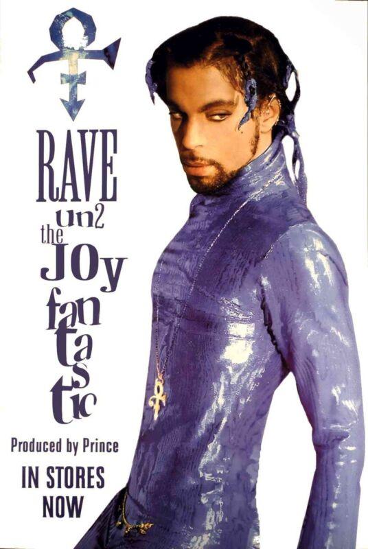 "Prince Poster Rave Un2 the Joy Fantastic Original Litho 1999 24"" x 36"" Nice wCOA"