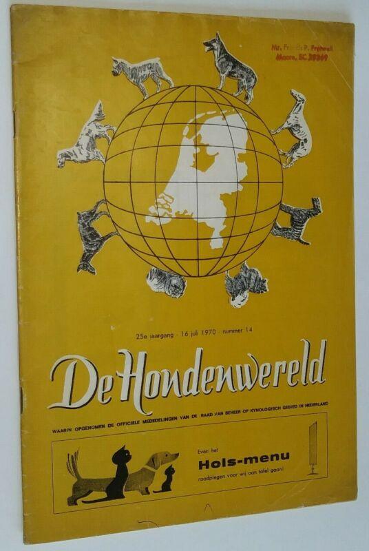 De Hondenwereld Dutch Dog Magazine July 1970 Chesapeake Bay Retriever Article