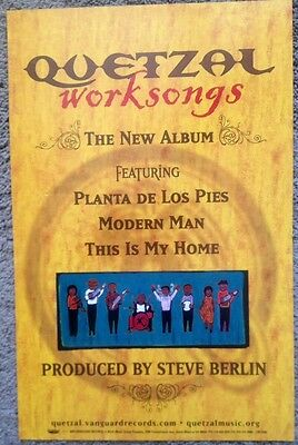 "Lot of 3 New Quetzal ""Worksongs"" Double-Sided Promotional Poster 2003 Vanguard"