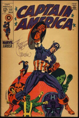 CAPTAIN AMERICA #111 1969 CLASSIC JIM STERANKO COVER Signed By STERANKO