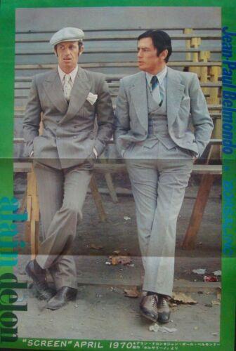 BORSALINO Japanese Ad movie poster JEAN-PAUL BELMONDO ALAIN DELON 1970 NM