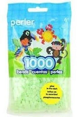 1000 Perler Glow in the dark Green Color  Iron On Fuse - Fuse Bead