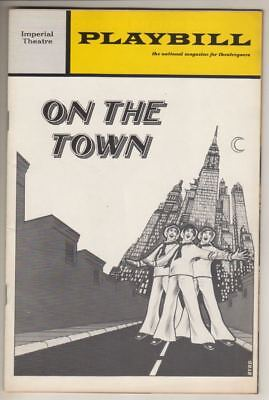 """Bernadette Peters & Phyllis Newman   """"On The Town""""  Playbill   1971   Revival"""