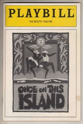 """Ahrens & Flaherty  """"Once On This Island""""  Playbill 1991 La Chanze, Lillias White"""