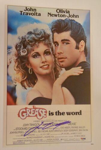 John Travolta Signed Autographed GREASE 11X17 Movie Poster Photo PSA/DNA COA