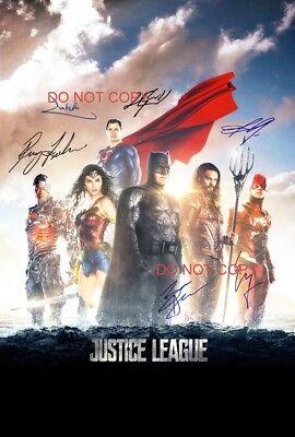 Justice League Reprint Signed Cast 12x18 Poster #2 DC Comics Batman Wonder Woman