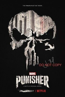 "The Punisher Marvel Comics Jon Bernthal Reprint Signed 12x18"" Poster #1 DC"