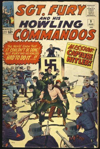 SGT FURY & HIS HOWLING COMMANDOS #9 1964 Baron Strucker ADOLPH HITLER COVER
