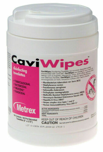 Metrex CaviWipes Towelettes Large 160 Canister
