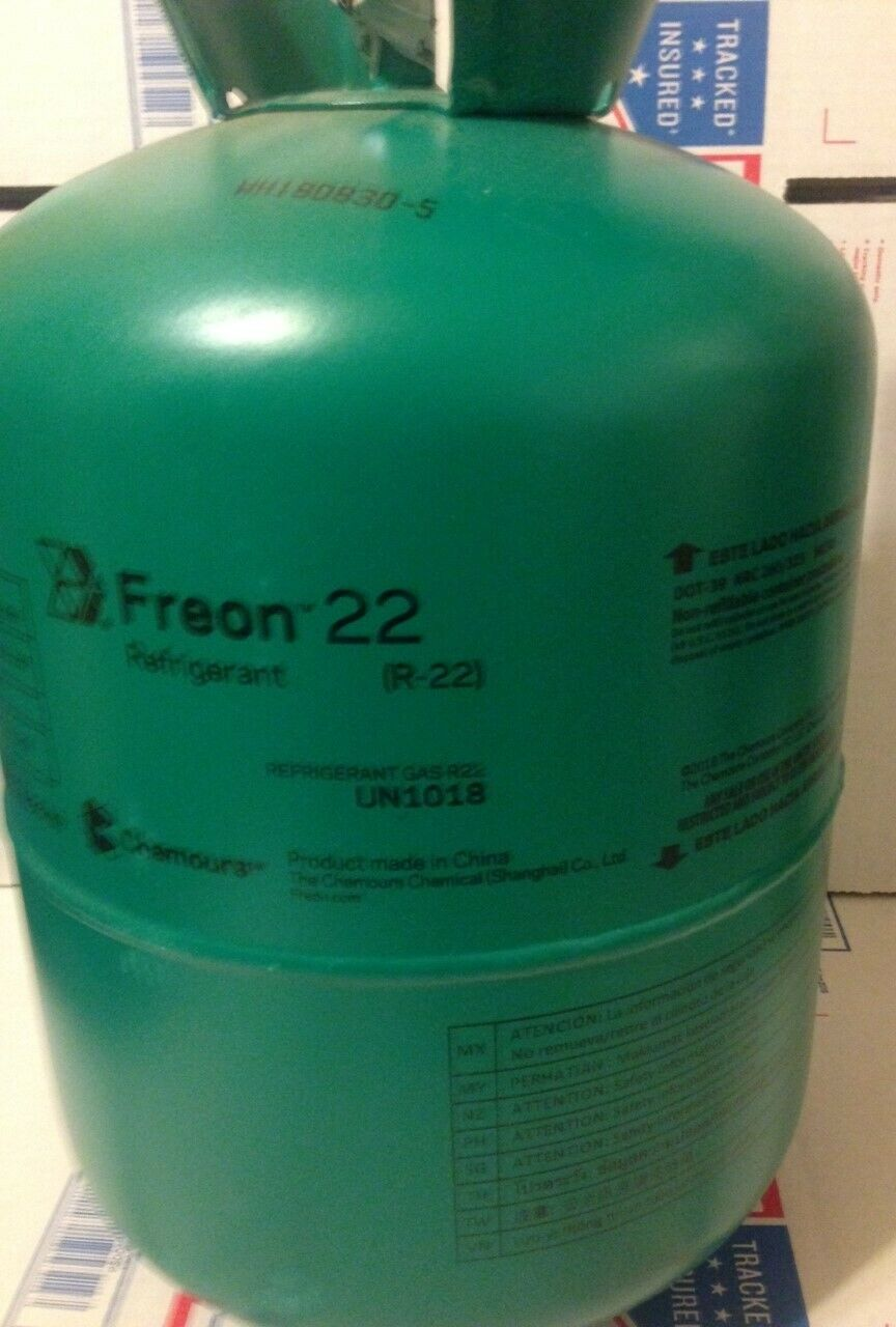 VIRGIN R22 Refrigerant Sealed Full 30 lbs  FREE SAME DAY SHIPPING