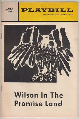 """Wilson In The Promise Land""    Broadway   FLOP  Playbill 1970  OPENING NIGHT"