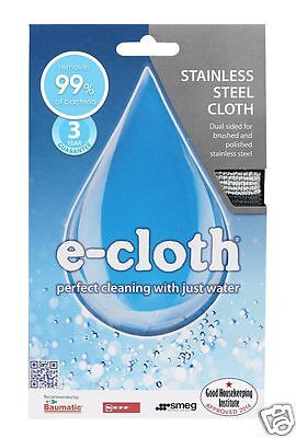 e-cloth Microfibre Stainless Steel Cleaning Pack ~ 2 Cloths SSP