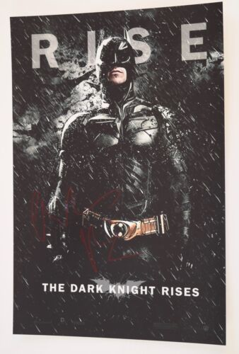 Christian Bale Signed Autograph THE DARK KNIGHT RISES 12X18 Photo Poster COA VD