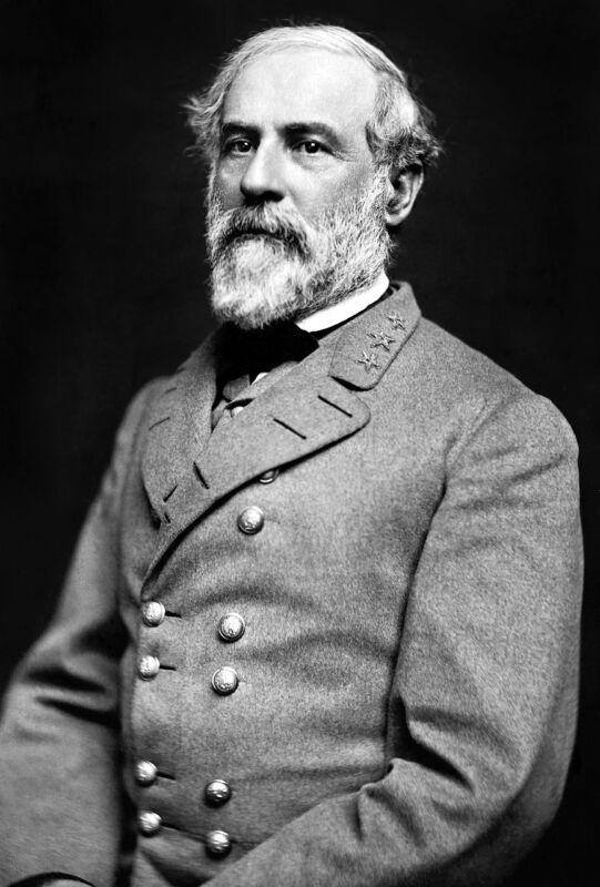 Confederate General Robert E Lee Black And White  8x10 Photo Print