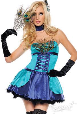 Seven Til Midnight Jewel Peacock Complete Costume New L Large 4 Piece ](Seven Til Midnight Costumes)